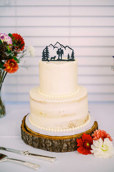 Rustic PNW Wedding Cake