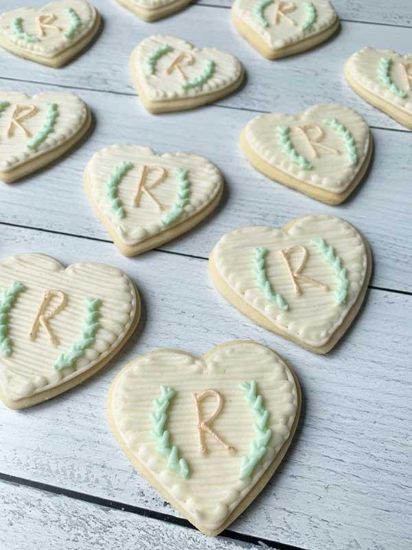Modern Monogram Cookies
