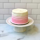ombre pink smash cake