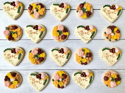 Boho Fall Flower Cookies