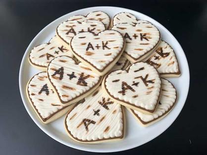 Monogram Birch Tree Cookies