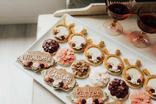 Fall Themed Wedding Cookies