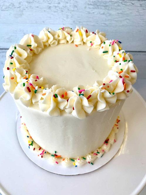 "6"" Vanilla Birthday Cake"
