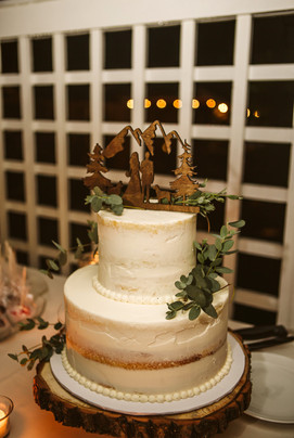 Rustic 2 Tiered Wedding Cake