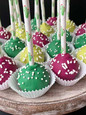 Cactus Themed Cake Pops