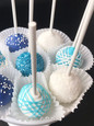 Shades of Blue Cake Pops