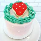 Strawberry Themed Smash Cake