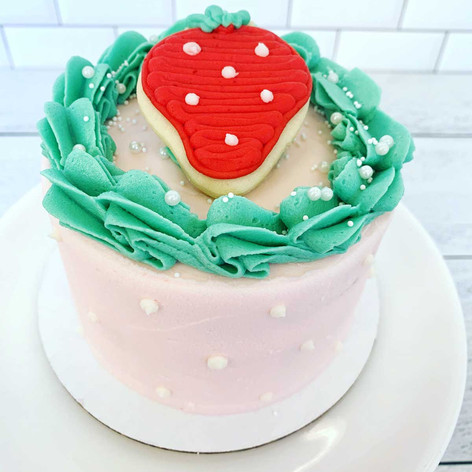 Strawberry Themed Smash Cake