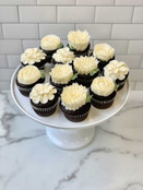All White Floral Cupcakes