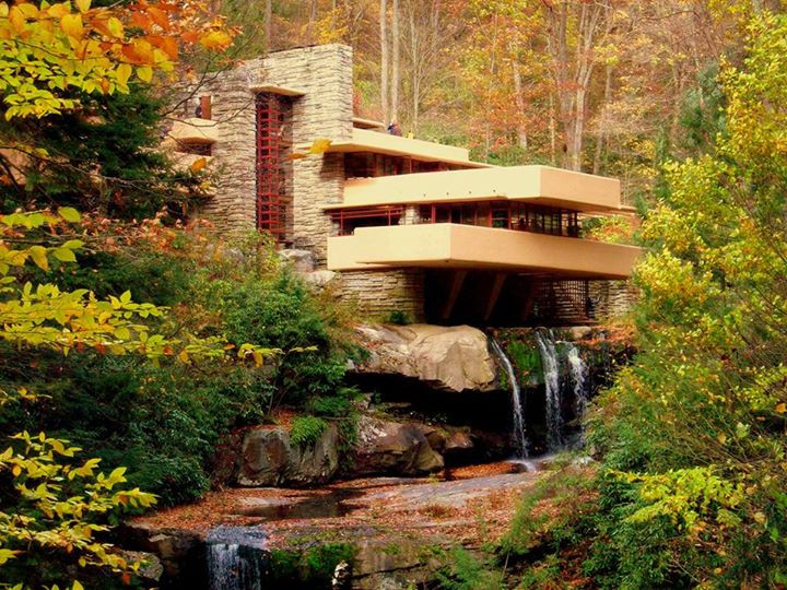 The Fall at Falling Water.  Not the main cantilever has not been fixed and is sagging