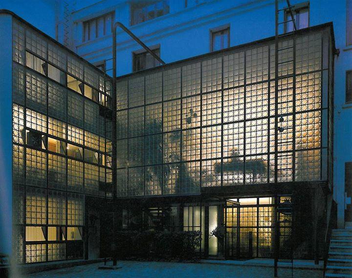 Maison De Verre at night, Paris, France--Pierre Chareau
