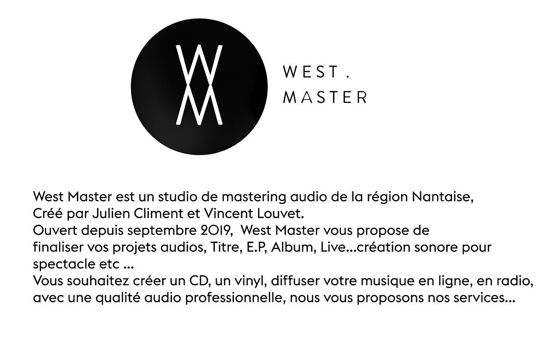 Présentation studio West Master mastering audio à Nantes