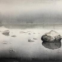 Sten på Ingarö / 40x30 cm