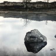 Sten på jämtländsk sjö