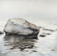 Sten i Ingaröstrand. Juni 20x15cm 2020