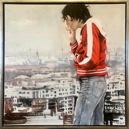 Acrylic Painting ( Håkan Hellström ) 60x60cm inkl ram  2019
