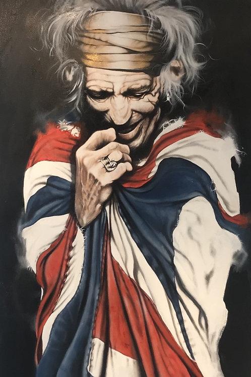 Keith Richards (UK flag) Original  Acrylic on canvas 90x145cm
