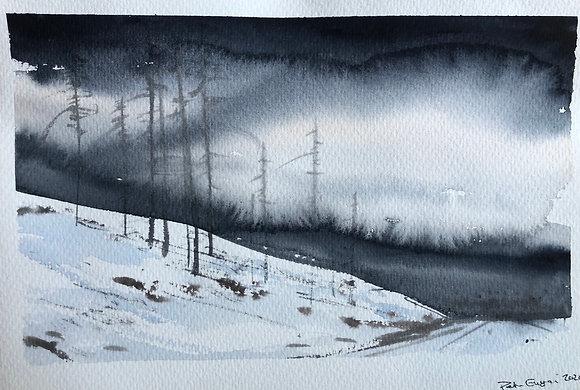 Vinterväg mot Åre 30x18cm