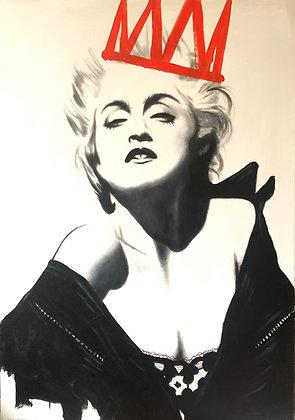 "Akryl på duk "" Madonna with crown"" orginal 70x100cm"