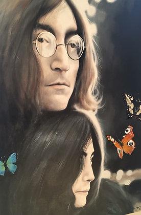Lennon & Yoko Ono Acrylic on Canvas 70x100 cm