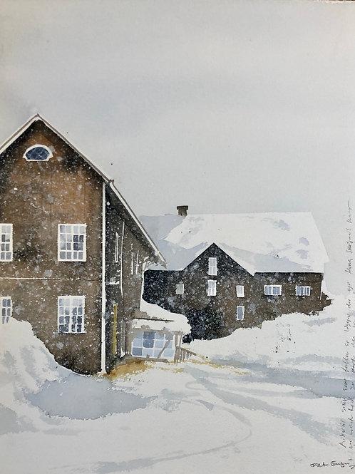 Watercolor ( Original )  Torp i Dalarna 56x40cm  oramad 2019