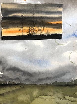 Norrbotten collage 27x40cm