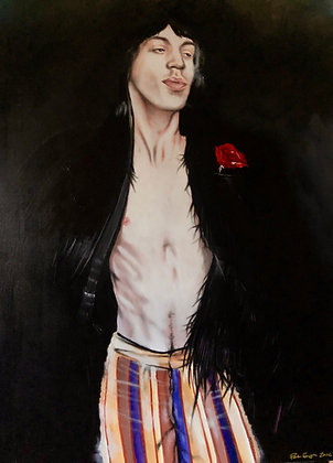 Mick jagger / Young - Acrylic on canvas ( 70x100cm ) 2016