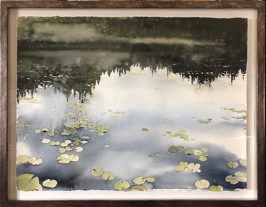 Watercolor ( Original ) 90x70 cm Näckrosor 2019