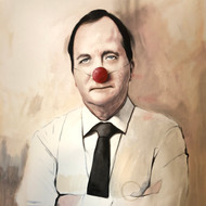 Stefan Löfven / The Clown  100x120 cm
