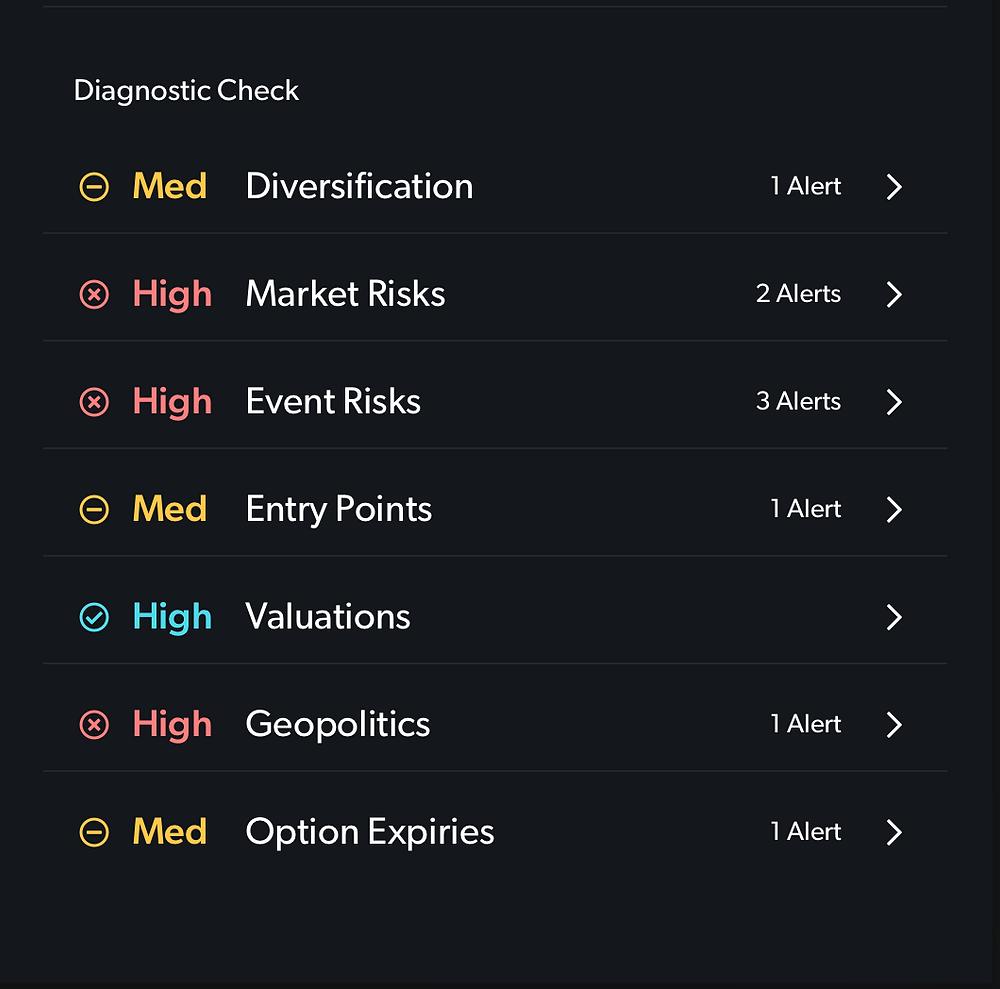 Portfolio alerts across your stocks / holdings