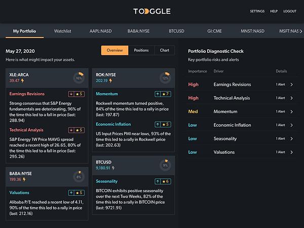 TOGGLE Copilot portfolio overview
