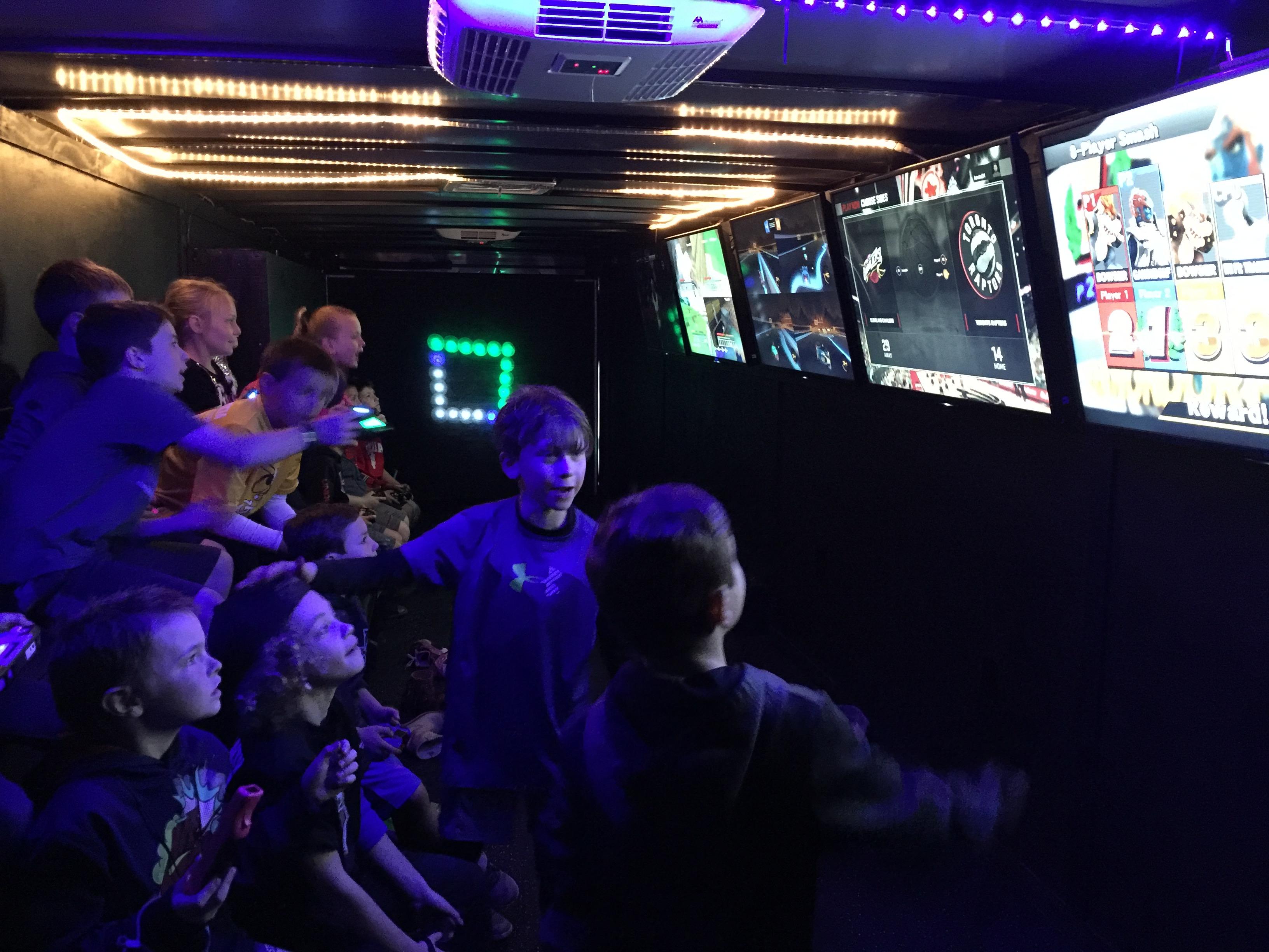 Party Trailer Inside Dark