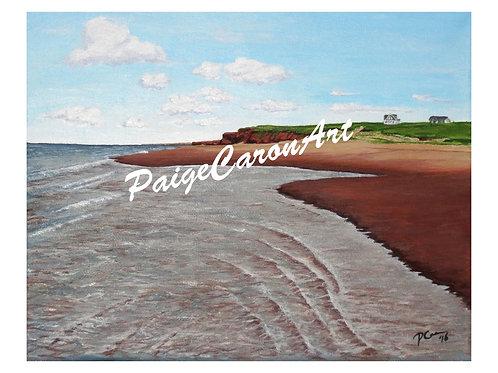 """Seaview Beach"", PEI  Digital Reproduction Print"