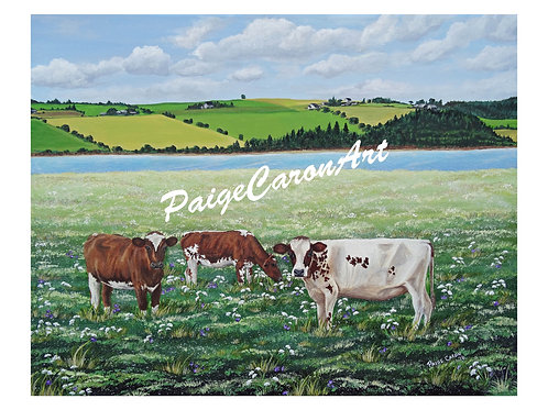 """Happy Cows"", PEI  Digital Reproduction Print"