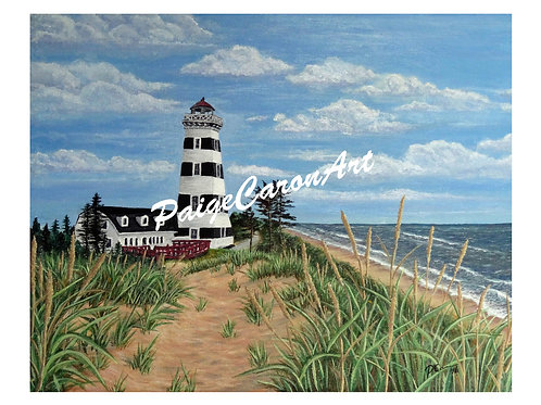 """""""West Point Lighthouse"""", PEI  Digital Reproduction Print"""