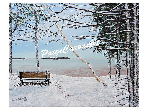 """First Snowfall, Summerside"", Digital Reproduction Print"