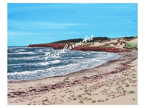 """Cavendish Beach"", PEI  Digital Reproduction Print"