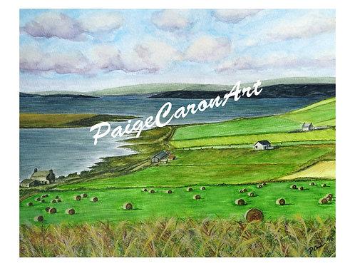 """Waterfront Farms"", PEI  Digital Reproduction Print"