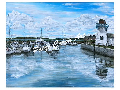 """""""Summerside Marina"""", PEI  Digital Reproduction Print"""