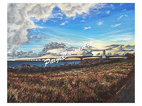 """Confederation Bridge Sunset"", Digital Reproduction Print"