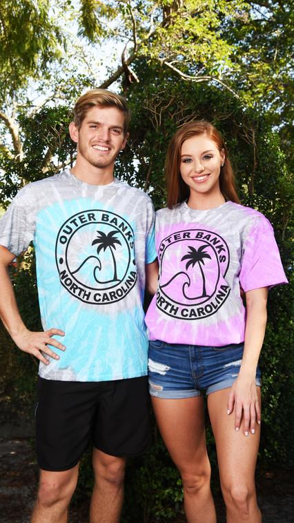 Gray Base Swirl  Dye  T-Shirt