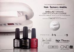 CND Shellac Certificaat