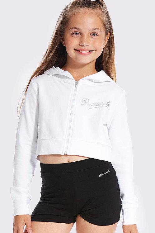 PINEAPPLE - Girls Crop Diamanté Zip Jacket