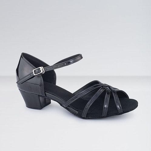 Leather Cross Strap Ballroom Shoes (3.5cm Heel)