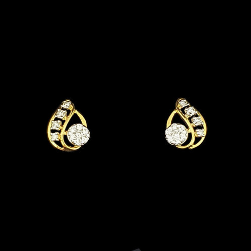 Radiant Pear Shaped Diamond Earrings