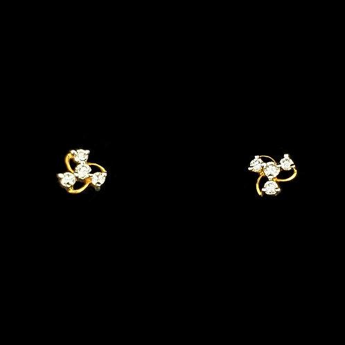 Swirl Diamond Studs