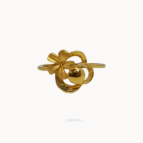 Flower And Sun Ring