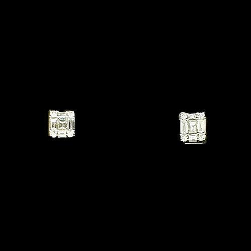 Baguette Little Dailywear Diamond Earrings