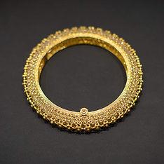 Traditional Kada/Bangle in Yellow Gold