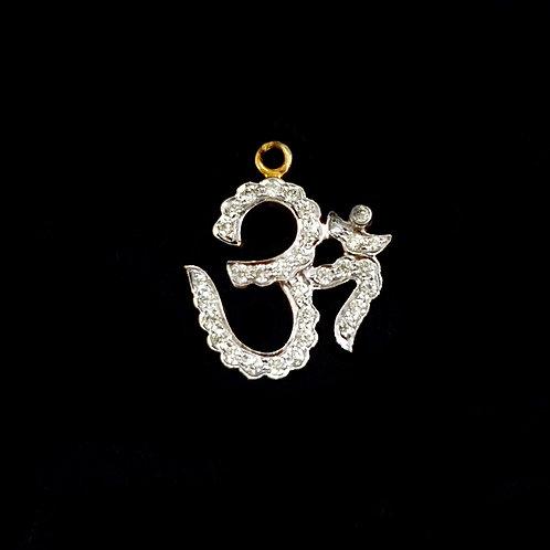 Magnificent Om Diamond Pendant